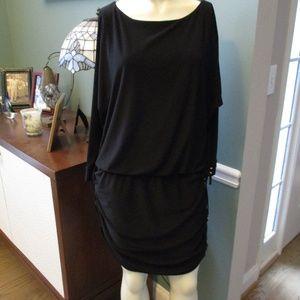 White House Black market Stretch ruched Hem Dress